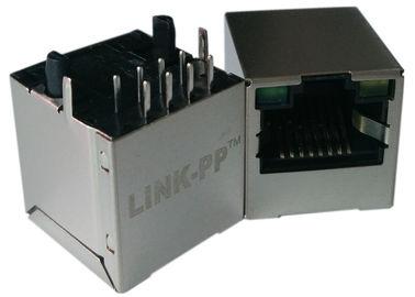 LPJD4012BENL, ο κάθετος RJ45 Jack, 1CT: 1CT, 8P8C 10/100Mbps, GY των οδηγήσεων ασπίδων