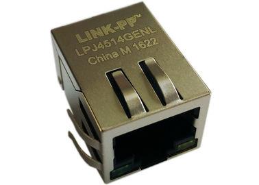 Δύναμη LPJ4514GENL 1x Rj45 πάνω σε Ethernet, R/A 90 βαθμός 10/100Mbps IEEE802.3af