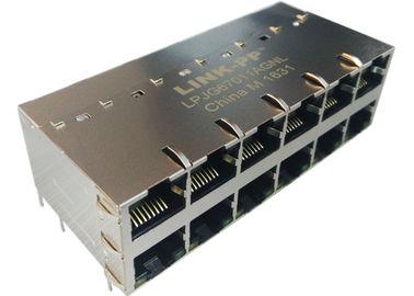 Συνδετήρας 1000Base-τ σημείου εισόδου RJ45 LPJG67011AGNL 2x6 με IEE802.3at των οδηγήσεων