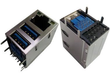 ασπίδα 2x USB3.0 Combo Jack RJ45 Gigabit Ethernet LPJU1608AHNL/LEDs GY